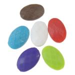 Akrilik Beads i mbuluar me brymë, Oval, asnjë, ngjyra të përziera, 13x19x6.50mm, : 1.5mm, 5KG/Shumë,  Shumë