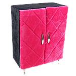Bizhuteri Velveteen Set Box, Dollap rrobash, asnjë, rozë, 170x95x230mm, 5Boxes/Shumë,  Shumë