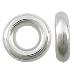 Veshura bakri Beads plastike, plastike bakrit të veshura, Petull e ëmbël në formë gjevreku, ngjyrë platin praruar, asnjë, asnjë, , nikel çojë \x26amp; kadmium falas, 13x13x4mm, : 6mm, 2500PC/KG,  KG