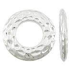 Plastike bakri veshura Linking Ring, plastike bakrit të veshura, Petull e ëmbël në formë gjevreku, ngjyrë platin praruar, asnjë, asnjë, , nikel çojë \x26amp; kadmium falas, 42x42x5mm, : 21mm, 204PC/KG,  KG