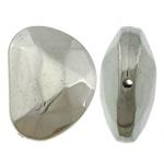Veshura bakri Beads plastike, plastike bakrit të veshura, Nuggets, ngjyrë platin praruar, asnjë, asnjë, , nikel çojë \x26amp; kadmium falas, 27.20x20.80x10.50mm, : 1.5mm, 285PC/KG,  KG