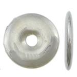 Veshura bakri Beads plastike, plastike bakrit të veshura, Round Flat, ngjyrë platin praruar, asnjë, asnjë, , nikel çojë \x26amp; kadmium falas, 22.50x22.50x3.20mm, : 4.2mm, 1000PC/KG,  KG