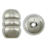 Veshura bakri Beads plastike, plastike bakrit të veshura, Daulle, ngjyrë platin praruar, asnjë, asnjë, , nikel çojë \x26amp; kadmium falas, 29x19mm, : 3.2mm, 125PC/KG,  KG