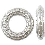 Plastike bakri veshura Linking Ring, plastike bakrit të veshura, Petull e ëmbël në formë gjevreku, ngjyrë platin praruar, asnjë, asnjë, , nikel çojë \x26amp; kadmium falas, 20x20x5mm, : 11mm, 1111PC/KG,  KG
