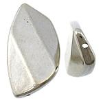 Veshura bakri Beads plastike, plastike bakrit të veshura, Kthesë, ngjyrë platin praruar, asnjë, asnjë, , nikel çojë \x26amp; kadmium falas, 21x39x7mm, : 1mm, 312PC/KG,  KG