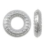 Plastike bakri veshura Linking Ring, plastike bakrit të veshura, Petull e ëmbël në formë gjevreku, ngjyrë platin praruar, asnjë, asnjë, , nikel çojë \x26amp; kadmium falas, 12x12x3mm, : 5mm, 5000PC/KG,  KG