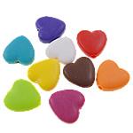 Akrilik Beads i mbuluar me brymë, Zemër, asnjë, ngjyra të përziera, 13x3x5mm, : 2mm, 5KG/Shumë,  Shumë