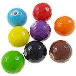 Beads pikturuar akrilik, Round, pikturë, asnjë, ngjyra të përziera, 16mm, : 2mm, 5KG/Shumë,  Shumë