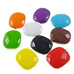 Beads pikturuar akrilik, Drejtkëndësh, pikturë, asnjë, ngjyra të përziera, 20x23.50x8.50mm, : 2mm, 5KG/Shumë,  Shumë