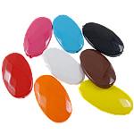 Beads pikturuar akrilik, Oval Flat, pikturë, asnjë, ngjyra të përziera, 20x37x7.50mm, : 2mm, 5KG/Shumë,  Shumë