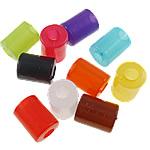 Akrilik Jelly Style Beads, Kolonë, asnjë, Stili pelte, ngjyra të përziera, 11x15mm, : 5mm, 5KG/Shumë,  Shumë