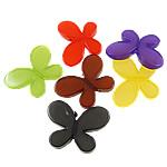 Akrilik Jelly Style Beads, Flutur, asnjë, Stili pelte, ngjyra të përziera, 46x34.50x7.50mm, : 3mm, 5KG/Shumë,  Shumë