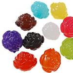 Akrilik Jelly Style Beads, Lule, asnjë, Stili pelte, ngjyra të përziera, 14x14x13mm, : 2mm, 5KG/Shumë,  Shumë