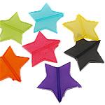 Akrilik Jelly Style Beads, Yll, asnjë, Stili pelte, ngjyra të përziera, 30x28x5mm, : 2mm, 5KG/Shumë,  Shumë