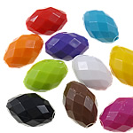 Beads Solid Color akrilik, Oval, asnjë, ngjyra të forta, ngjyra të përziera, 16x23mm, : 2.5mm, 5KG/Shumë,  Shumë