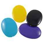 Beads Solid Color akrilik, Oval Flat, asnjë, ngjyra të forta, ngjyra të përziera, 24.50x34x6.50mm, : 1.5mm, 5KG/Shumë,  Shumë