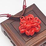Gjerdan Porcelani, Lule, punuar me dorë, Antique imitim, i kuq, 40mm, :21-50cm, 5Fije floku/Shumë,  Shumë