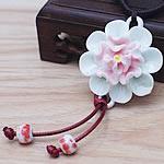 Gjerdan Porcelani, Lule, punuar me dorë, Antique imitim, asnjë, 40mm, :21-50cm, 5Fije floku/Shumë,  Shumë