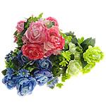 Lule artificiale Kryesore Dekor, Mëndafsh, asnjë, asnjë, ngjyra të përziera, 340x530x300mm, 10PC/Shumë,  Shumë