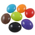 Beads Solid Color akrilik, Oval, asnjë, ngjyra të forta, ngjyra të përziera, 24x29x15mm, : 2.5mm, 5KG/Shumë,  Shumë