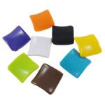 Beads Solid Color akrilik, Katror, asnjë, ngjyra të forta, ngjyra të përziera, 30x30x5mm, : 1.5mm, 5KG/Shumë,  Shumë