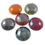 Beads plumb Zi akrilik, Round Flat, plumbit ngjyrë të zezë praruar, ngjyra të forta, ngjyra të përziera, 17x9mm, : 2mm, 5KG/Shumë,  Shumë
