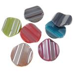 Beads plumb Zi akrilik, Kthesë, plumbit ngjyrë të zezë praruar, ngjyra të forta, ngjyra të përziera, 24x26.50x6mm, : 2mm, 5KG/Shumë,  Shumë