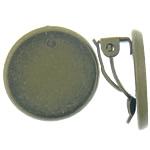 Clip tunxh Në Vath Finding, Shape Tjera, Ngjyra antike bronz i praruar, asnjë, , nikel çojë \x26amp; kadmium falas, 18x18x9mm,2mm, : 16x16mm, 100Çiftet/Qese,  Qese