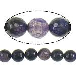 Natyrore Dy-ton Beads agat, Dy agat Ton, Round, asnjë, faceted, 10mm, : 1.5mm, :16Inç, 10Fillesat/Shumë,  Shumë