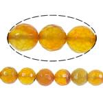 Beads Kuq Natyrore agat, Red agat, Round, asnjë, faceted, 10mm, : 1mm, :15Inç, 10Fillesat/Shumë,  Shumë