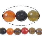 Agat Beads, Agat përziera, Round, asnjë, i përzier, 12mm, : 1mm, :16Inç, 5Fillesat/Shumë,  Shumë