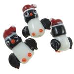 Lampwork Kafshëve, Pinguin, punuar me dorë, asnjë, asnjë, 17-22mm, : 2.5mm, 50PC/Qese,  Qese
