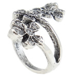 Zink Alloy Ring Finger, Alloy zink, Lule, Ngjyra antike argjendi praruar, asnjë, asnjë, , nikel çojë \x26amp; kadmium falas, 32.50x21.50x19mm, : 17mm, :7, 10PC/Qese,  Qese