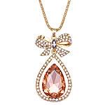 Zinxhiri gjerdan triko, Alloy zink, Lot, ngjyrë ari praruar, me diamant i rremë, rozë, , nikel çojë \x26amp; kadmium falas, 30x58mm, :27.5Inç, 10Fillesat/Shumë,  Shumë