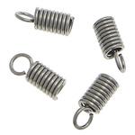 Stainless Steel kurrizit spirale, Tub, asnjë, asnjë, ngjyra origjinale, 10.5x4mm, 0.7mm, : 3mm, 3000PC/Qese,  Qese