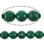 Beads Dashuri Green agat, Jeshile agat, Round, asnjë, faceted, 20mm, : 2mm, :16Inç, 5Fillesat/Shumë,  Shumë