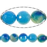 Beads Blue Natyrore agat, Blue agat, Round, asnjë, faceted, 20mm, : 2.2mm, :16Inç, 5Fillesat/Shumë,  Shumë