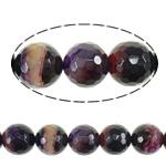 Beads Natyrore Purple agat, Round, asnjë, faceted, 16mm, : 1.5mm, :16Inç, 5Fillesat/Shumë,  Shumë