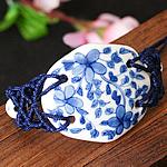 Porcelani byzylyk, with Cord najlon, Shape Tjera, punuar me dorë, asnjë, asnjë, 50x40mm, : 7-10Inç, 2Fillesat/Shumë,  Shumë