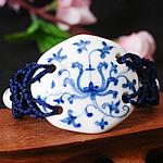 Porcelani byzylyk, with Cord najlon, Shape Tjera, punuar me dorë, asnjë, asnjë, 50x40mm, :7-10Inç, 2Fillesat/Shumë,  Shumë