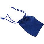 Drawstring çanta bizhuteri, Velveteen, Drejtkëndësh, asnjë, blu të errët, 70x86x1mm, 100PC/Qese,  Qese