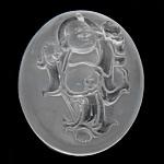 Crystal Pendants, Kuarc qartë, Oval Flat, Gdhendur, të vetme të njëanshme, 40x49x7.50mm, : 1.5mm, 2PC/Shumë,  Shumë