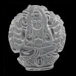 Crystal Pendants, Kuarc qartë, Vazo, Gdhendur, të vetme të njëanshme, 35x42x10mm, : 1.5mm, 2PC/Shumë,  Shumë