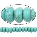 Bruz Beads, Rondelle, i lyer, asnjë, dritë blu, 10x6mm, : 2mm, :16Inç, 10Fillesat/Shumë,  Shumë