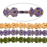Bruz Beads, Bruz sintetike, Kafshë, asnjë, asnjë, ngjyra të përziera, 20x15x3mm, : 2mm, :15.5Inç, 20Fillesat/Shumë,  Shumë
