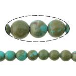 Bruz Beads, Bruz Natyrore, Round, i lyer, asnjë, blu, 4mm, : 0.8mm, :16Inç, 20Fillesat/Shumë,  Shumë