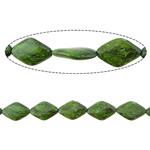 Bruz Beads, Bruz sintetike, Diamant, asnjë, asnjë, e gjelbër, 29x19x7mm, : 2mm, :15Inç, 10Fillesat/Shumë,  Shumë