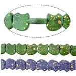 Bruz Beads, Bruz sintetike, Mollë, asnjë, asnjë, ngjyra të përziera, 17x18x6mm, : 2mm, :15Inç, 10Fillesat/Shumë,  Shumë