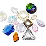KRISTALLanhänger, Kristall, gemischt, 12-30mm, Bohrung:ca. 1.5-17mm, 100PCs/Tasche, verkauft von Tasche