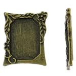 Cilësimet Zink Alloy Cabochon, Drejtkëndësh, Ngjyra antike bronz i praruar, asnjë, asnjë, , nikel çojë \x26amp; kadmium falas, 20.50x24.50x2.50mm, 50PC/Qese,  Qese